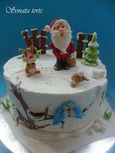 Cakes and cupcakes Christmas Cake Designs, Christmas Cake Decorations, Christmas Cupcakes, Christmas Sweets, Holiday Cakes, Christmas Baking, Christmas Bunny, Funny Christmas, Xmas Cakes