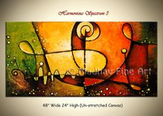 Beautiful vivid colors!   Original Large Painting Abstract Contemporary by MadhavFineArt