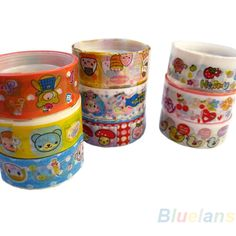 2sets= 20 rolls of kawaii lovely deco cartoon tape scrapbooking adhesive paper sticker for office school use 0R7Z
