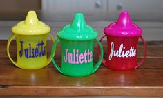 Personalized Sippy Cup - two handles