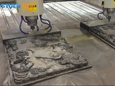 Double Heads Stone Carving CNC Router Machine with dual spindles can improve the working effeciency. Stone Carving CNC Router is on sale with cost price. Artificial Marble, Artificial Stone, European Furniture, Antique Furniture, Stone Quarry, Woodworking Industry, Cnc Router Machine, Stepper Motor, Tool Storage