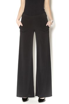 Black palazzo pants with pockets. These pants pack well for trips and don't wrinkle! Black Palazzo Pants by Veronica M. Clothing - Bottoms - Pants & Leggings Dallas, Texas