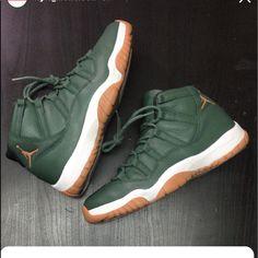 the best attitude 3a816 404d8 Jordan Shoes   Custom Jordan 11s   Color  Green Tan   Size  10