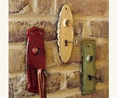 old door locks with keys as hooks