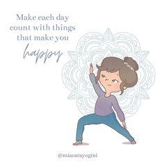 """Make each day count with things that make you happy"". 🕉 #yogadiary #yoga #meditation #mindfulness #meditazione #diarioyogaillustrato #yogaart #yogaillustrations #yogaillustrators #miacarayogini #diarioyoga #arteyoga #ispirazione #crescitapersonale #consapevolezza #awareness #happiness #felicità Yoga Art, Yoga Meditation, Are You Happy, Illustrators, Count, Happiness, Mindfulness, Teddy Bear, Make It Yourself"