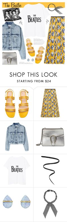 """241. Band T-Shirts: The Beatles"" by auroram on Polyvore featuring Gucci, MANGO, Smith & Cult, Melissa Joy Manning and Loewe"