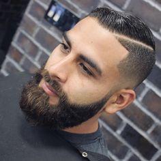"vintagebarbershop: "" twopercentbarbershop: "" Cut + Beard Alex Garcia  @hair_blender Styled with @officiallayrite original hold ➋percentbarbershop.resurva.com | ☏ 909.9➋➋.8080 (at 2 % Chop Barber..."
