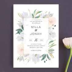 13 Wedding Invitations to Feed Your Spring Fever | Brit + Co