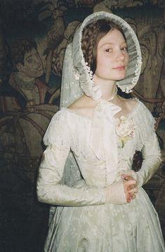 Mia Wasikowska by Cary Fukunaga in Lula, on the set of Jane Eyre, #wedding dress
