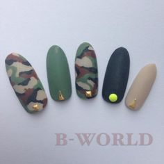 カモフラ マット 【B-WORLD】 http://nail-beautynavi.woman.excite.co.jp/design/detail/338019?pint ≪ #nail #nails #nailart #softgel #gelnail #ジェルネイル≫
