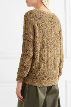 Brunello Cucinelli - Bouclé-knit Cotton-blend Sweater - Camel - x small