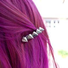 studded hair clip. so cool