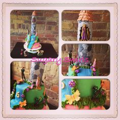 - rapunzel themed birthday cake with tower Custom Birthday Cakes, Themed Birthday Cakes, Themed Cakes, Tangled Rapunzel, Crazy Cakes, Indoor Playground, Your Child, Toronto, Lunch Box