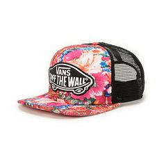 The Vans Girls Attendance Floral trucker hat makes it easier than ever to  instantly brighten your 745095740ff