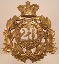 Militaria UK – Title: Cap / Headdress Badge – Victorian (North Gloucestershire) Regiment of Foot Last Pattern Shako Plate. Navy Air Force, Military Cap, Napoleonic Wars, Headdress, Badges, Perfume Bottles, Plate, Victorian, History