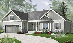 Craftsman Style Ranch House Plans Like the looks of the exterior Craftsman Ranch, Modern Craftsman, Craftsman Style House Plans, Ranch House Plans, Craftsman Homes, Craftsman Exterior, Modern Farmhouse, The Plan, House Paint Exterior