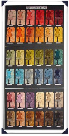 Tim Holtz Distress Stain Color Board..way cool!