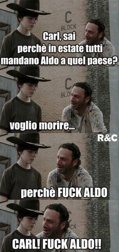 Carl & Rick Grimes mems Fuck Yeah Walking Dead Memes, Just when I thought I had seen. Walking Dead Funny, Walking Dead Coral, Carl The Walking Dead, Fear The Walking, Rick Memes, Twd Memes, Rick Grimes Memes, Funny Images, Funny Pictures