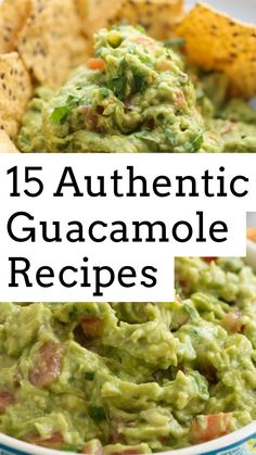 15 Authentic Guacamole Recipes: Easy, Fresh, and Healthy - My Best Home Life Homemade Guacamole Easy, Guacamole Recipe Easy, Fresh Guacamole, How To Make Guacamole, Avocado Recipes, Guacamole Dip, Top Recipes, Gourmet Recipes, Appetizer Recipes