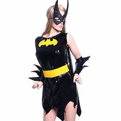 Sexy BATGIRL costume bat girl fancy dress up superhero outfit S/M ...
