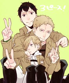 Bertholdt, Annie and Reiner