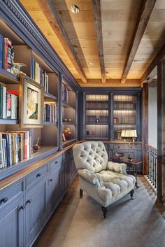 54 Ideas Home Library Room Dreams Built Ins Home Library Design, Home Design, Home Interior Design, Interior Decorating, Library Ideas, Design Ideas, Home Library Decor, Library Inspiration, Attic Design