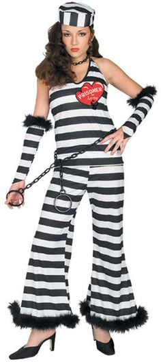 Sexy Prisoner of Love Woman Halloween Costume Carnival Costumes, Disney Costumes, Costumes For Teens, Adult Costumes, Fox Images, Trendy Outfits, Fashion Outfits, Bachelorette Shirts, Creative Halloween Costumes