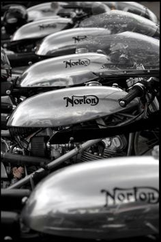 Norton race bikes.