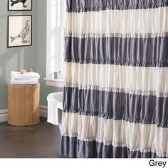 Lush Decor Isla Ruffled Flounced Shower Curtain - Overstock™ Shopping - Great Deals on Lush Decor Shower Curtains