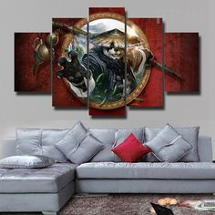 World Of Warcraft:Mists Of Pandaria - 5 Piece Canvas Painting