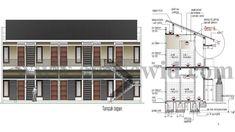 desain rumah kost 10 kamar Small Apartment Plans, One Bedroom Apartment, Apartment Design, Small Apartments, Home Building Design, Building A House, House Design, Loft Bed Plans, Modern Minimalist House
