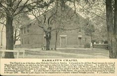 Barratt's Chapel Postcard.  From the Caley Collection.  9015-028-000 #156.  www.archives.delaware.gov