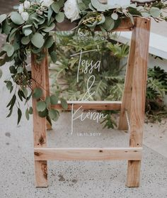 A little bit of A-frame Magic in Byron Bay for Tessa + Kieran last year 🌿🧡 Australian timber, Australian greenery and Acrylic 🙌🏻 all the…