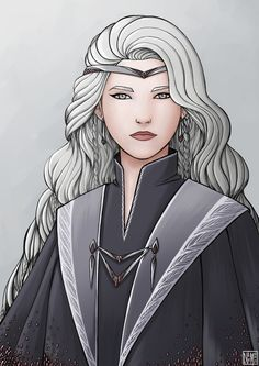 Miriel Therinde, Queen of the Noldor by netmors Dnd Characters, Fantasy Characters, Female Characters, Tolkien, Fantasy Inspiration, Character Inspiration, Character Portraits, Character Art, Fantasy Women