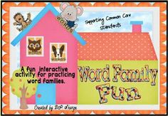Word Families Fun Promethean Flipchart Set 1  In this activity you will find an engaging, interactive, digital opportunity for students to practice popular short vowel families. Students will have fun as they pull letters from the pictures on each house to form words. $
