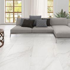 Floor tiles for white kitchen luxury tile carrara marble look porcelain tile wood porcelain tile that looks like wood Living Room Flooring, Living Room Carpet, Tile Living Room, Bedroom Flooring, Living Room Designs, Living Room Decor, Floor Design, House Design, Casa Clean