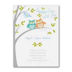Look Who's Adopting - Baby Shower Invitation