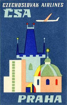 CSA Czechoslovakian Airlines _______________________________La République Tchèque ~ Česká Republika ~ Czech Republic