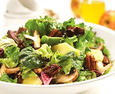 Apple & Mushroom Salad with Spicy Pecans | BC Tree Fruits