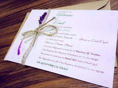 Lavender Wedding Invitations/ Rustic wedding by BiutifulFinds