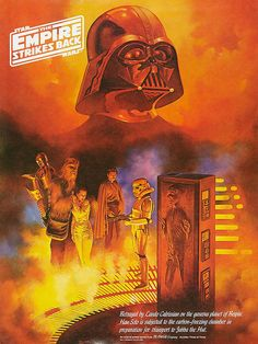 Star Wars: The Empire Strikes Back, Coca Cola promotional poster by artist Boris Vallejo. of 3 in this set Boris Vallejo, Star Wars Poster, Star Wars Art, Star Trek, Gi Joe, Science Fiction, Alec Guinness, 70s Sci Fi Art, Movie Poster Art