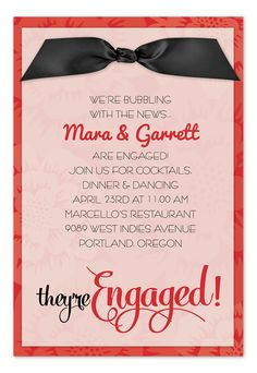 A Floral Engagement party invitation