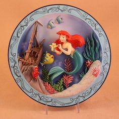 MLM Disney's The Little Mermaid Ariel Sebastian Flounder 3D Sunken SHIP Plate | eBay