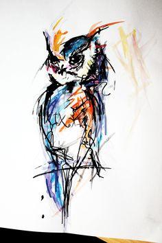#Myart #my #colorowl #owl #love #paint #art #drawing #freedom #watercolors #inspiration