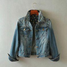 >> Click to Buy << 2017 New Arrive Women Punk Hip-Hop Style Denim Coat Female Fashion Rivet Spliced Long Sleeve Single Breasted Casual Denim Jacket #Affiliate