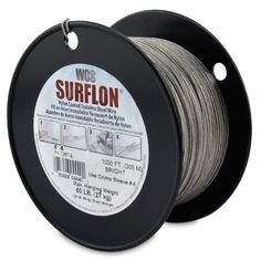 Surflon Size 4 - 60-Pound Break 1000-Feet Crimping Picture Wire Nylon Coated Stainless Steel, Bright by Wire & Cable Specialties. $71.99. Saves time by eliminating the wire wrapping process. Crimping creates a tenacious hold on the wire. Use special crimping pliers with Surflon sleeves. Custom professional appearance. Virtually impossible for connection to come apart. The Surflon System is an attractive, fast method of wiring. This advanced system uses nylon coa...