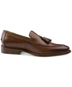 Tighten up your formal look with these sleek leather tassel loafers from G.h. Bass & Co. | Leather upper; man-made sole | Imported | Apron toe | Slip-on style | Leather lining for comfort and durabili