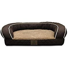 American Kennel Club BROWN Orthopedic Sofa Bed Quilted, Large