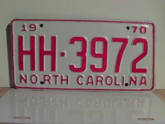 1970+North+Carolina+Rat+Rod+License+Plate+Tag+NC+#HH-3972+YOM