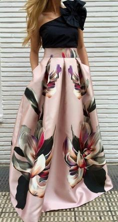 29920b15e13 Women s Skirts -  womensskirts - Chi chi london allover floral voll prom  skater dress pin